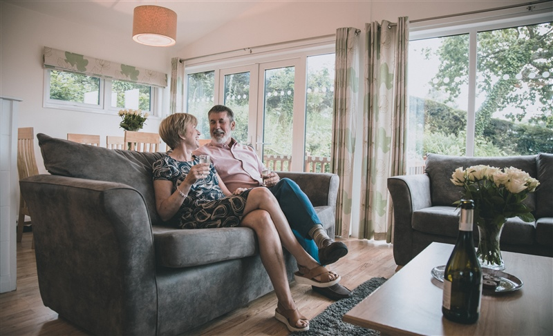 couple in newlands holidays West Dorset apartment
