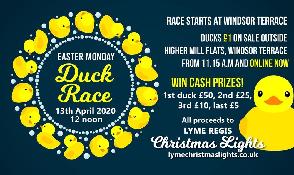 easter duck race Lyme Regis