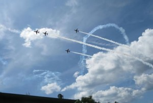 Red Arrows over Newlands
